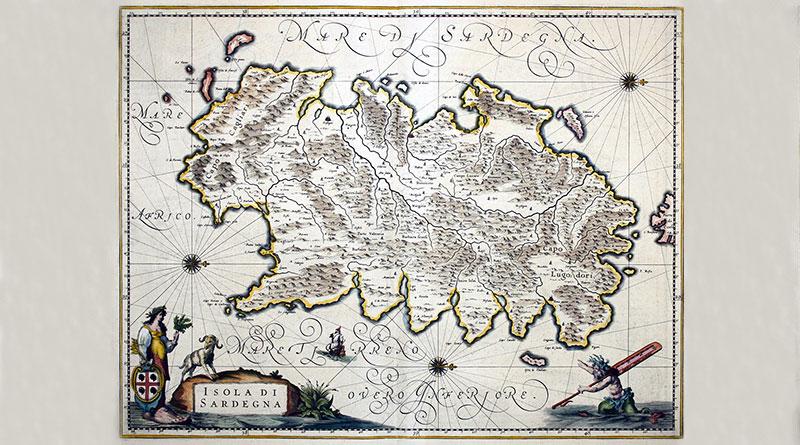 L'origine del nome Sardegna - Carta della Sardegna antica