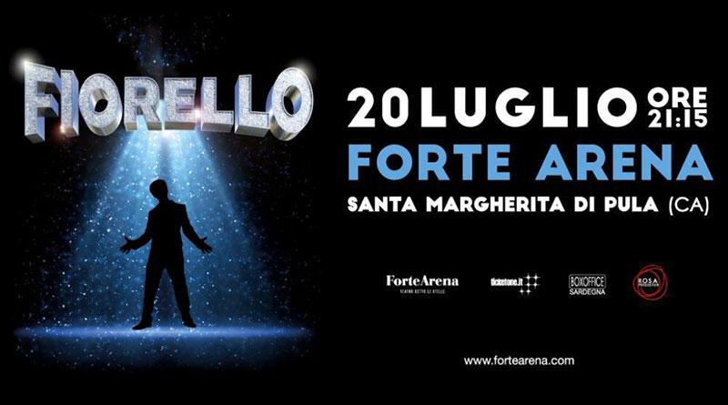 Fiorello al Forte Arena Pula Cagliari