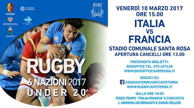 Rugby 6 Nazioni Under 20 Italia Francia a Capoterra